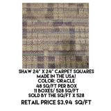 Shaw Carpet Squares x 528 sq.ft