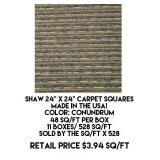 """Shaw 24"""" x 24"""" Carpet Squares x 528 sq.ft"""