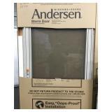 """Andersen 34"""" x 80"""" Sandtone RH Storm Door"""