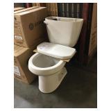 Gerber White Two Piece Round Bowl Toilet