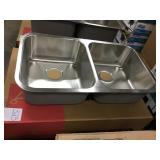"""8"""" Kindred Double Bowl SS Kitchen Sink"""