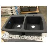 "9"" Franke Double Bowl Composite Sink"