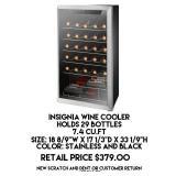 7.4cu.ft Insignia Wine Cooler