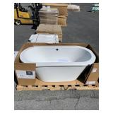 Lowell Canvas White Freestanding Soaking Tub