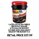 Latex-ITE Ultra Shield Driveway Sealer x 3 buckets