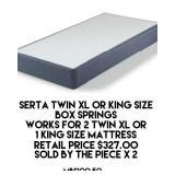 Serta Twin XL or King Size Box Spring x 2