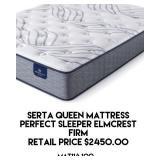 Serta Queen Mattress Firm
