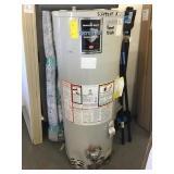 40 gallon propane water heater damage.