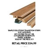 Transition Strips 4 in 1 Molding x 9