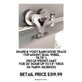 Knape & Vogt Barn Door Track