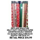 Kirtland Signature Heavy Duty Wrapping Paper x 5