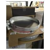 20in aluminum water heater pans x2