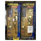 Schlage RH & LH Front Entry Handle Set x2.