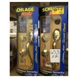 Schlage RH Front Entry Handle Set x2.