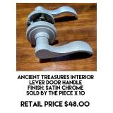 Ancient Treasure Interior Lever Door Handle x 10