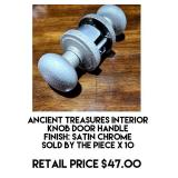 Ancient Treasures Interior Knob Door Handle x 10