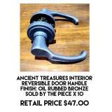Ancient Treasure Interior Door Handle x 10