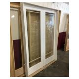 60in x 81in primed pine interior french door.