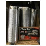 Rigiflex aluminum dryer ducting x2 damage.