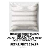 Threshold Throw Pillow x 4