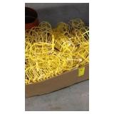 BOX OF PLASTIC JOB SITE LIGHT COVERS