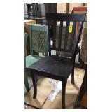 Dark brown dining chairs by the piece X 2