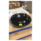 Black granite round sink