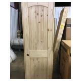 """24"""" LH Pine Arch Top Door"""