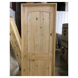 """28"""" RH Pine Arch Top Door"""