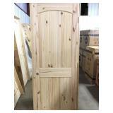 """30"""" LH Pine Arch Top Door"""