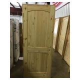 """30"""" RH Pine arch top door"""