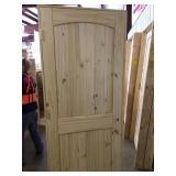 """32"""" RH Pine arch top door"""
