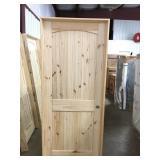"""32"""" LH Pine arch top door"""