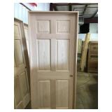 "32"" LH 6 Panel Oak"