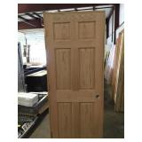 """30"""" RH 6 Panel Oak"""