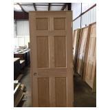 "30"" LH 6 Panel Oak"