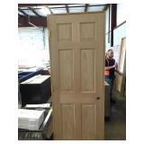"""28"""" RH 6 Panel Oak"""