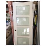 """30"""" x 80"""" 4 glass panel left hand door"""