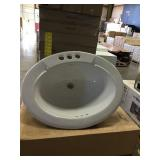 Jasmine White Oval Lavatory Sink x 2