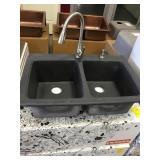 Franke Black Moulded Kitchen sink w/faucet