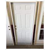 32 in. Fiberglass Right Hand Exterior Door
