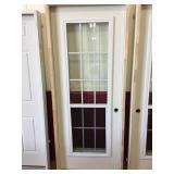 32 in. 15 Lite Fiberglass Left Hand Door