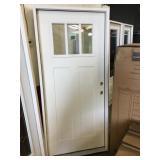 36 in. Left Hand Fiberglass Exterior Door