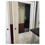 36 in. Right Hand White Exterior Door