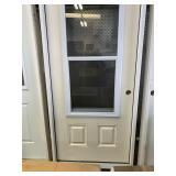 36 in. x 80 in. Left hand exterior door
