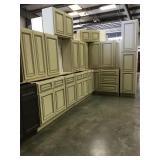 Antique white 15 piece kitchen set