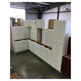 White 15 piece kitchen cabinets set