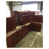14 piece cherry kitchen cabinets set