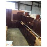 14 piece mocha kitchen cabinets set