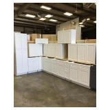 15 piece white kitchen cabinets set